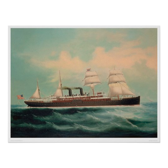 Steamship S.S. China (1614A) Poster