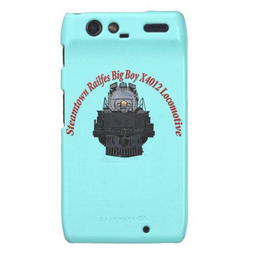 Steamtown Railfest Text Big Boy X4012 Motorola Droid RAZR Case