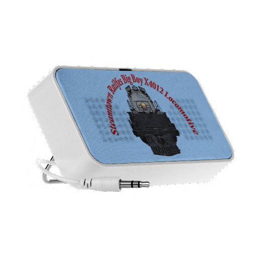 Steamtown Railfest Text Big Boy X4012 Laptop Speaker