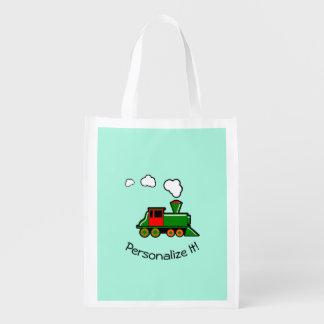 SteamTrain Reusable Grocery Bag