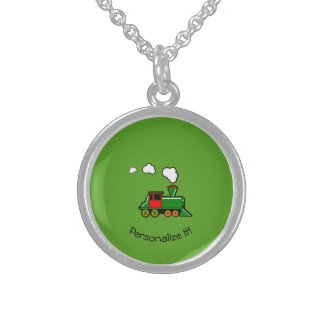 SteamTrain Sterling Silver Necklace