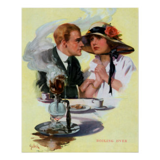 Steamy Couple Vintage Poster