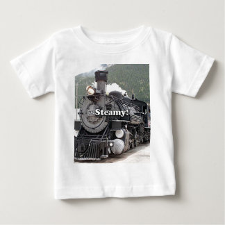 Steamy!: steam train engine, Colorado, USA 8 Baby T-Shirt