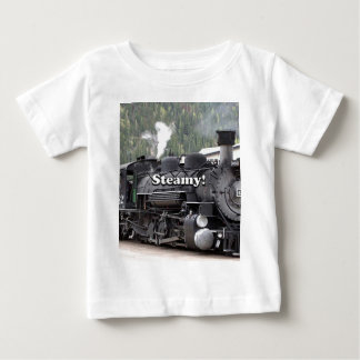 Steamy!: steam train engine, Colorado, USA Baby T-Shirt