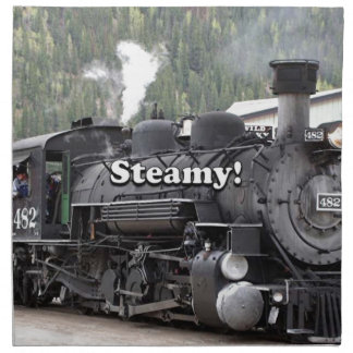 Steamy!: steam train engine, Colorado, USA Napkin