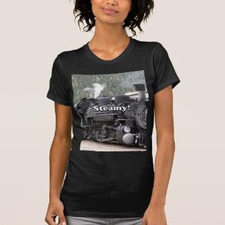 Steamy!: steam train engine, Colorado, USA T-Shirt