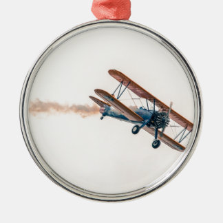 Stearman Pt-13d Double Decker Aircraft Fly Metal Ornament