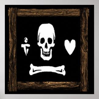 Stede Bonnet-WoodFrame 8 Posters
