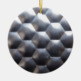 steel #3 ceramic ornament