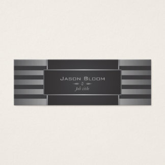 Steel and black stripes mini business card