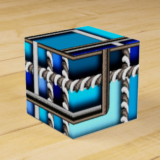 Steel and blue favour box