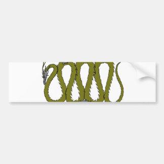 Steel and Green Dragon Plate Bumper Sticker