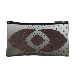Steel and Lava Makeup Bag
