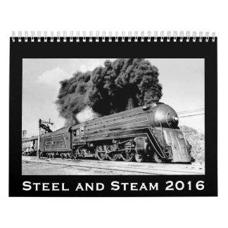 Steel and Steam 2016 Vintage Railroad Locomotives Wall Calendar