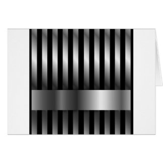 steel bars background greeting card