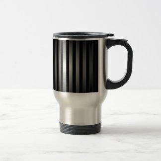 steel bars background travel mug
