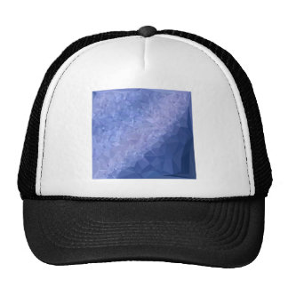 Steel Blue Abstract Low Polygon Background Cap