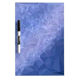Steel Blue Abstract Low Polygon Background Dry Erase Board