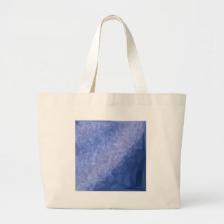 Steel Blue Abstract Low Polygon Background Large Tote Bag