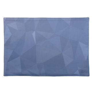 Steel Blue Abstract Low Polygon Background Placemat