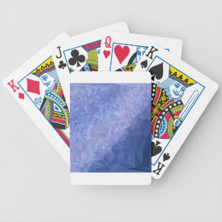 Steel Blue Abstract Low Polygon Background Poker Deck