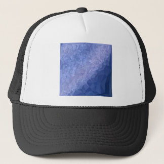 Steel Blue Abstract Low Polygon Background Trucker Hat