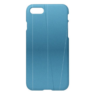 Steel Blue Line Print iPhone 8/7 Case