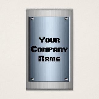 Steel Blue Metal Look Frame Business Cards