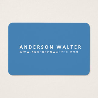 STEEL BLUE Minimalist Elegant Professional Modern Business Card