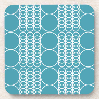 Steel Blue Plastic Coasters by Florence Dashiell