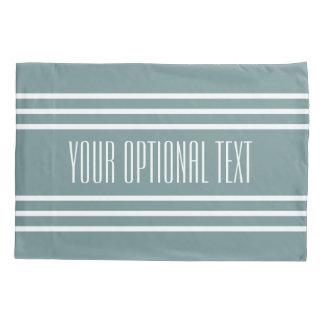Steel Blue Stripes custom text pillow cases