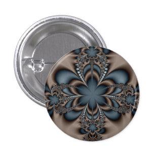 Steel butterflower pinback button
