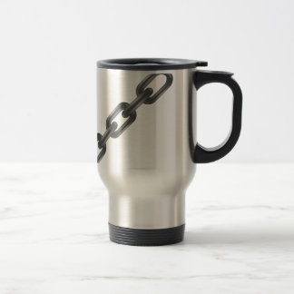 steel chain travel mug