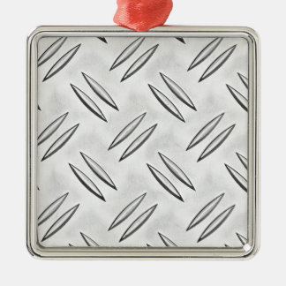 Steel checker plate Silver-Colored square decoration