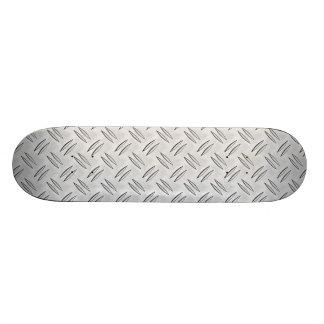 Steel checker plate skateboard decks