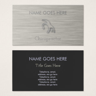 """Steel"" Chiropractor Business Cards"