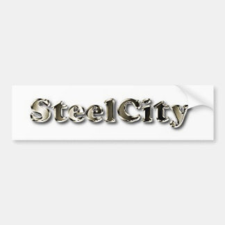 Steel City Car Bumper Sticker