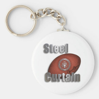 Steel Curtain Super Bowl Support, President Obama Basic Round Button Key Ring