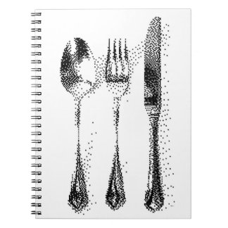 Steel Cutlery C64 Style Hand-Drawn Pixel Art Notebooks