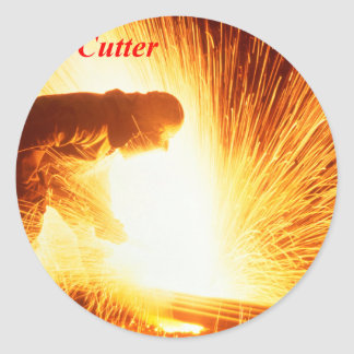 Steel Cutter Classic Round Sticker