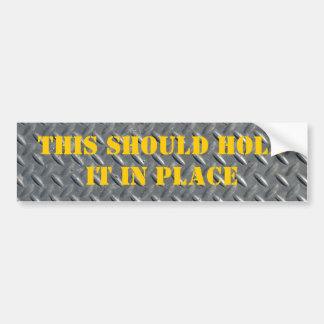 Steel Diamond Plate Background Bumper Sticker