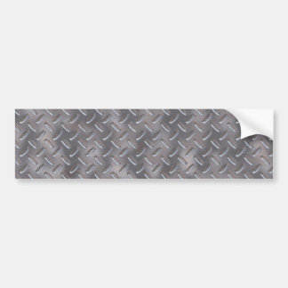 Steel Diamond Plate Bumper Sticker