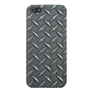 Steel diamond plate iPhone 5/5S covers