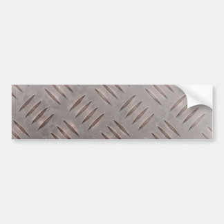 Steel Diamond Plate Texture Car Bumper Sticker