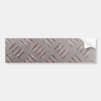 Steel Diamond Plate Texture Bumper Sticker