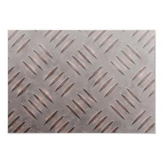 Steel Diamond Plate Texture 3.5x5 Paper Invitation Card
