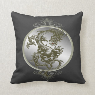 Steel Dragon Reversible Pillow Cushions