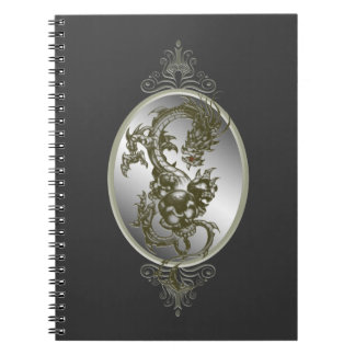 Steel Dragon Spiral Notebook