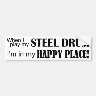 Steel Drum Happy Place Bumper Sticker