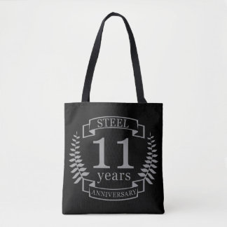 Steel Eleventh wedding anniversary 11 years Tote Bag